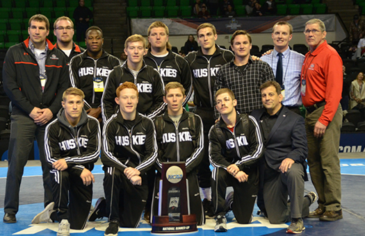 Huskies Wrestling earns 2nd place at NCAA championships
