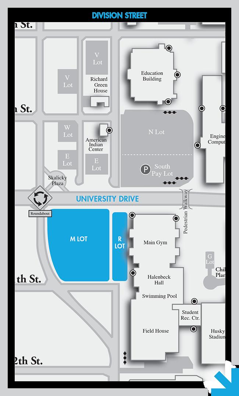 Campus Map Parking Halenbeck Hall St Cloud State University