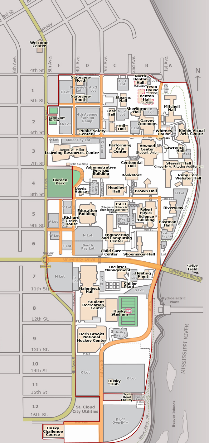 St Cloud University Campus Map Www Naturalrugs Store