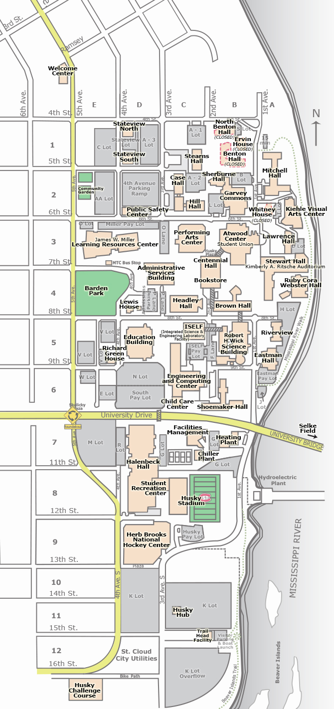 Main campus map