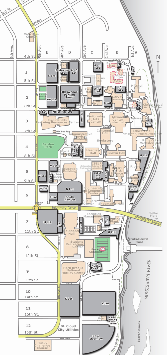 Campus Map Parking