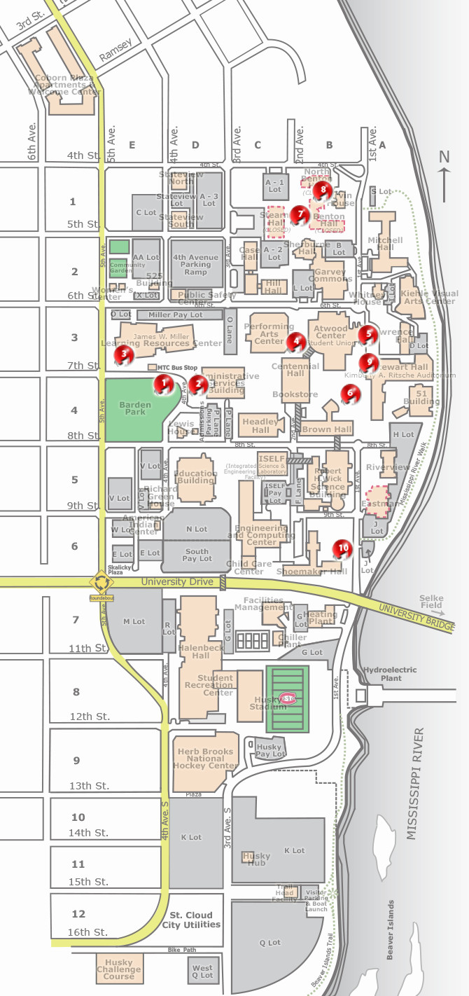 Campus Map   Virtual Tours | St. Cloud State University