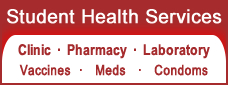 Student Health Services:  Clinic, pharmacy and lab for students and employees
