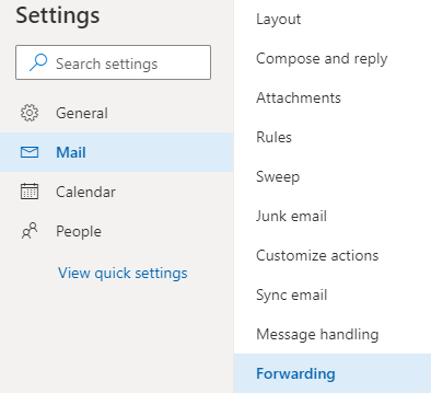 Forward Email from One Account to Another on Outlook on Web
